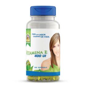 Vitamina E frasco de 100 capsulas